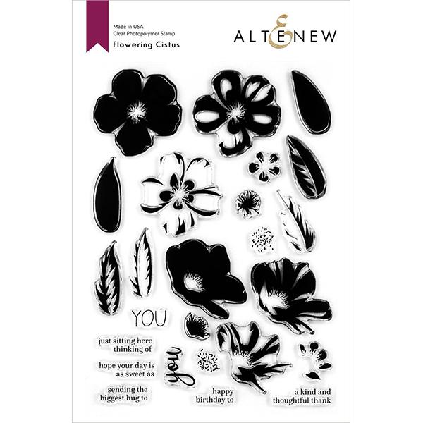 【アルテニュー/Altenew】クリアスタンプ -Flowering Cistus