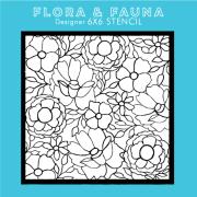 フローラ&フォーナ Floral Stencil 3 ステンシル