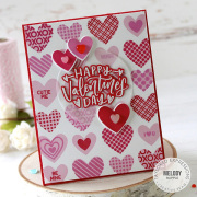 テイラードエクスプレッション  Hearts A Plenty Background Cling & Clear Combo